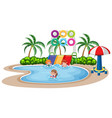 children play at water park vector image vector image