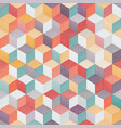 colored cube seamless pattern vector image vector image