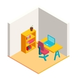 Colorful isometric office vector image