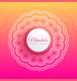 colorful mandala art elegant background vector image vector image