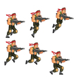 commando jumping game sprite vector image vector image