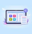 concept file transfer file sharing online vector image