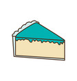 delicious piece of cake vector image