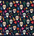 dia de los muertos pattern day dead vector image