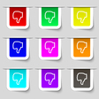 Dislike icon sign Set of multicolored modern vector image vector image
