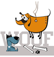 dogs smile vector image vector image