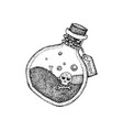 dotwork poison bottle vector image vector image
