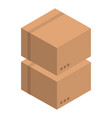 double carton box icon isometric style vector image vector image