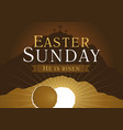 easter sunday holy week card vector image vector image