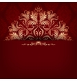 Elegant filigree ornament on seamless vector image vector image