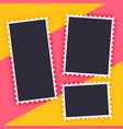 empty photo frame stylish background vector image vector image