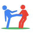fight flat icon conflict situation physical abuse vector image vector image