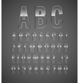 Glass font vector image vector image