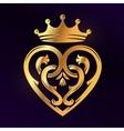 Golden Luckenbooth brooch design element vector image vector image
