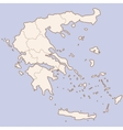 Greece contour map vector image
