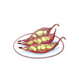 green papaya salad isolated icon vector image vector image