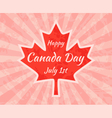 Happy Canada Day on Maple Leaf vector image vector image