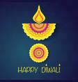 happy diwali wallpaper vector image vector image