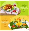Happy thanksgiving banners vector image
