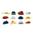 hats men and women fashion vintage caps vector image