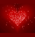 heart love valentine card love hearts vector image vector image
