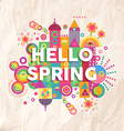 Hello spring quote poster design vector image vector image