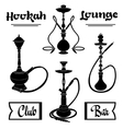 hookah labels set vector image vector image