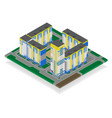 isometric high rise building in urban city vector image