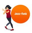 jazz funk dancer in cartoon style vector image