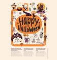 lovely holiday happy halloween flyer template vector image vector image