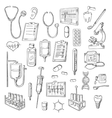 Medical checkup and treatments sketch icons vector image vector image
