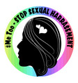 metoo banner with black woman face profile vector image
