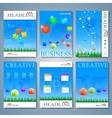 Modern set of brochures magazine flyer vector image vector image