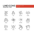 Monsters Types - line design icons set vector image vector image