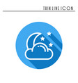 moon night line simple icon weather symbols vector image vector image