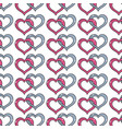 nice heart symbol to love and passion background vector image vector image