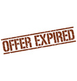 offer expired stamp vector image vector image