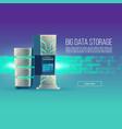 poster cartoon data center database vector image vector image