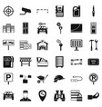 privacy icons set simple style vector image vector image