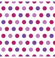 purple polka dots on white background vector image