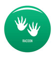 racoon step icon green vector image