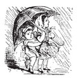 rain rain vintage vector image vector image