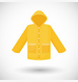 raincoat flat icon vector image vector image