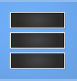 rectangle frame isolated on blue vector image vector image