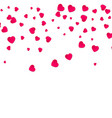 red pattern of random falling hearts confetti vector image vector image