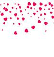 red pattern random falling hearts confetti vector image vector image