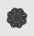 round black lace doilies decorative multilayer vector image vector image