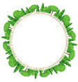 round frame park green planet forest with white vector image vector image
