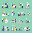 science lab flat icons vector image