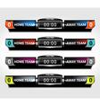 scoreboard elements sport vector image vector image